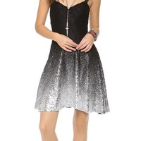 Free People Foil Ombre Lace Fit N Flare Dress   SHOPBOP