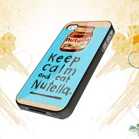keep calm and eat nutela For iphone 4,4s,5,samsung galaxy s3 i9300,and s4 i9500