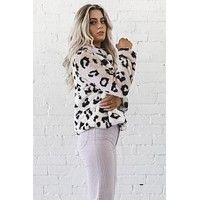 Spill Your Secrets Multi Color Faux Fur Leopard Jacket