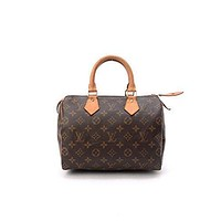 Tagre™ Women's Authentic Louis LV Vuitton Speedy 25 Brown Monogram Travel Bag
