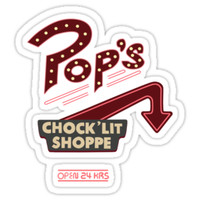 'Pops Diner Sticker' Sticker by anikameeusen