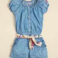GUESS Girls' Chambray Romper - Sizes S-XL | Bloomingdale's