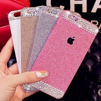 Anko Gold Bling Rhinestone Diamond Crystal Glitter Bling Hard Case Cover Shell Phone Case for Iphone 6 4.7 Inch (Hard Case)
