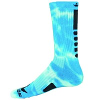 Red Lion Maxim Tie Dye Athletic Socks ( Neon Blue / White - Medium )