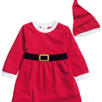 H&M - Set Santa Dress + Hat - Red - Kids