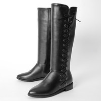 Winter Boots Botas Mujer Big And Small Size 34-47 Women Shoes Knee High Boots Round Toe Square Height Increasing Quality 773