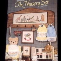 Canterbury Designs The Nursery Set Arrival #1 for Counted Cross Stitch Patterns Vintage Retro Simple Cross Stitch Chart New Baby Ideas Gift
