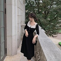 【Fianl Sale】Elegant Vintage Style Square Neck Dress