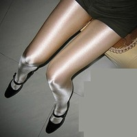 thin hot nightclub singer DS stage pantyhose pearl shiny light socks