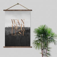 Wanderlust. Photography motivational quote. Mountains artwork. Nature poster art. Printable Scandinavian Art. Instant download