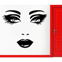 Wall Stickers Vinyl Decal Fashion Sexy Lips Eyes For Girls Women Teens Unique Gift (EM417)