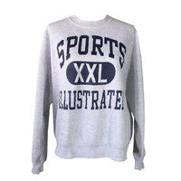 Vintage Sports Illustrated Sweatshirt Jumper, 1990s Oversize Baggy Boxy Pullover Sweatshirt, Retro 90s Hip Hop Athletic Clothing Streetwear