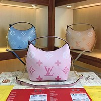 LV Louis Vuitton 2021 NEW ARRIVALS MONOGRAM LEATHER BY THE POOL MARSHMALLOW SHOULDER BAG