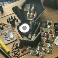 Altar Kit - Witchcraft - Altar Accessories - Spell Box - Herbs - Candles - Crystals - Rituals - Pagan Decor - Wiccan  - Herb Kit