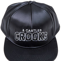 The Athletic Snapback Hat in Black