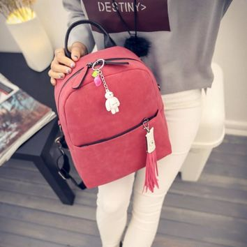 Stylish Comfort Hot Deal On Sale Back To School College Casual Winter Korean Ladies Matte Backpack [6582797703]
