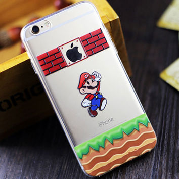 Hot sale fashion Ultra Thin Soft TPU Slim Cartoon Cute lovely for iPhone 6 6 Plus 6s plus 5s 5c 4 4s clear Silicone phone cases