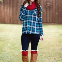 Flannel Button-Up-Teal