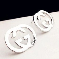 PEAP GUCCI Popular Ladies Logo Letter Earring+Best Gift