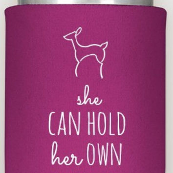 """""""She Can Hold Her Own"""" Koozie - Southern Doe"""