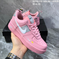 HCXX N1326 Nike Air Force 1 AF1 Dumr Low Logo Creative Fashion Casual Skate Shoes Pink