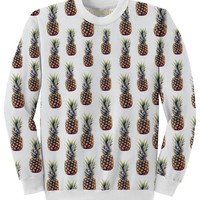 Pineapple Allover Printed Oversized Sweatshirt