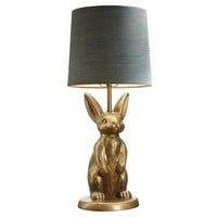 THE EMILY + MERITT BRASS BUNNY TABLE LAMP
