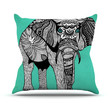 "Pom Graphic Design ""Elephant of Namibia Color"" Outdoor Throw Pillow"
