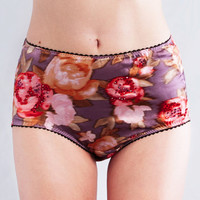 Etsy Lingerie Sale  FLO Retro printed floral silk by Lalilouche