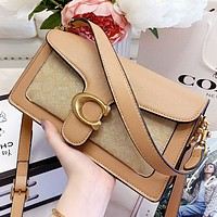 COACH New fashion pattern leather shopping leisure shoulder bag crossbody bag handbag