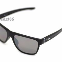 NEW OAKLEY CROSSRANGE XL POLISHED BLACK FRAME PRIZM BLACK POLARIZED #OO9360-0758
