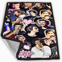 harry styles collage one direction Blanket for Kids Blanket, Fleece Blanket Cute and Awesome Blanket for your bedding, Blanket fleece *
