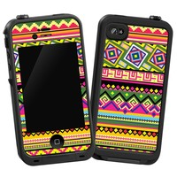"Happy Bright Tribal ""Protective Decal Skin"" for LifeProof iPhone 4/4s Case"