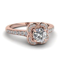 AMAZING 1.60CT ROUND SOLITAIRE STUD 925 STERLING SILVER ENGAGEMENT RING FOR HER