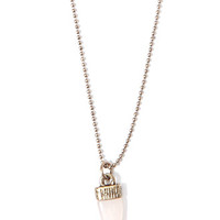 Longline Tooth Charm Necklace