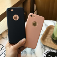 Simple Solid Color Iphone 5s SE 6 6s Plus & 7 7plus Cover Case + Gift Box