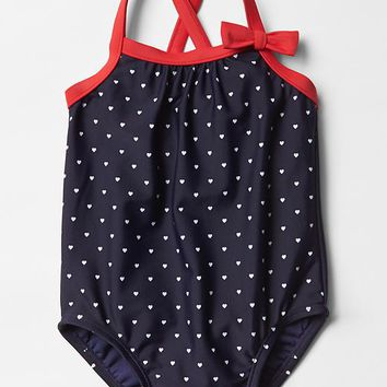 Americana Heart Swim One Piece
