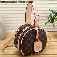 Louis Vuitton LV Women Retro Leather Handbag Crossbody Shoulder Bag