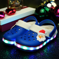 2016 LED Shoes Kids Glowing Sneakers Christmas Lights Shoe Kids Shoes Sneakers Lights Slippers with Lights for Children