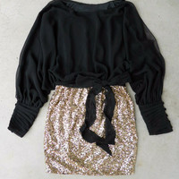 Sparkling Darling Dress in Black [4670] - $34.94 : Vintage Inspired Clothing & Affordable Dresses, deloom | Modern. Vintage. Crafted.