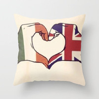 One Direction Inspired UK/Irish Love Heart Throw Pillow by xjen94 | Society6