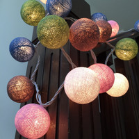 XL Size String Lights Cotton Ball to Decorate Kids's rooms