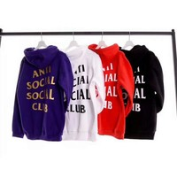 ANTI SOCIAL CLUB Casual Long Sleeve Sweater Pullover Hoodie Sweatshirt