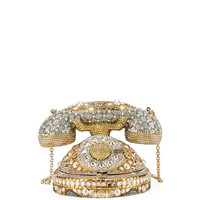 Judith Leiber Couture Plaza Crystal Rotary Phone Minaudiere