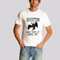 Led Zeppelin shirt Logo tee Led Zeppelin  Rock ShirtHard Rock Heavy Metal  Men t-shirt S-2XL
