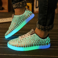 Imitate Led Shoes For Adult Summer Light Up Adult Shoes Women Casual Luminous Shoes for Men Luxury Brand Chaussure Lumineuse