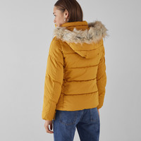 Jacket with faux fur hood - Best Sellers ★ - Bershka United States