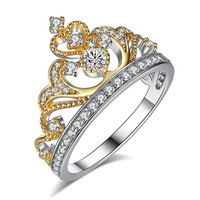 Gift Stylish Shiny New Arrival Jewelry Engagement Ring Crown Ring [179843760154]