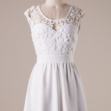 Gorgeous in Lace Dress - White