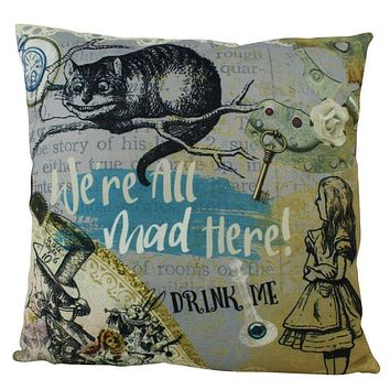 Cheshire Cat   Pillow Cover   Alice   in Wonderland   Home Decor   Throw Pillow   Mad Hatter Pillow    Kids Room Decor   Kids Room